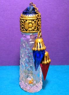 CZECH Art Deco JEWEL perfume bottle Dangle CHARMS