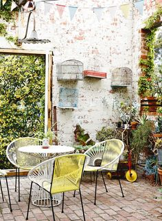 ! Patio paradise! Perfect furniture for a small space.