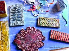Super hand-carved stamp collection by artist Martice Smith II