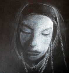Pastel seco sobre papel de Flavia Chávez.  Dibujo / Clase de Arte
