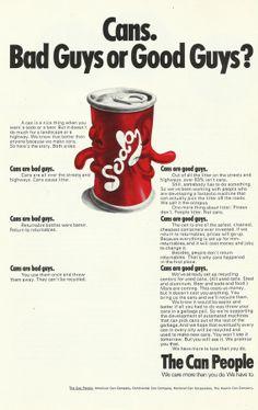 American Can Company Original 1971 Vintage Print by VintageAdarama... hmm?
