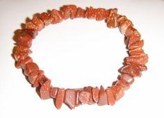 Natural Red Sandstone Gemstone Chip Stretch Bracelet | eBay https://www.facebook.com/AColourfulPast