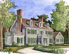 Grand Country Living - 47202HP   Colonial, Traditional, 2nd Floor Master Suite, Bonus Room, Den-Office-Library-Study, Jack & Jill Bath, Corner Lot   Architectural Designs