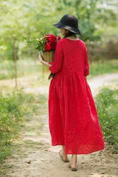 43 Ideas Sewing Clothes Dresses Woman Girls For 2019 Red Dress Casual, Red Dress Outfit, Casual Dresses, Sewing Clothes Women, Clothes For Women, Maxi Outfits, Tips Belleza, Ladies Dress Design, Indian Dresses