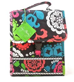 Vera Bradley New Lola Lunch Box Sack Cooler Bag Box Tote  #VeraBradley #LunchBagTote  Perfect for back to school...stylish and functional!