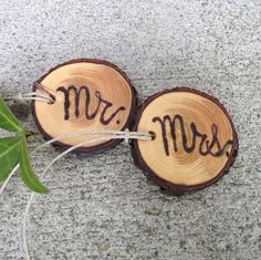 Mr & Mrs Wood Burned Toasting Glass Tree Branch by ARemarkYouMade
