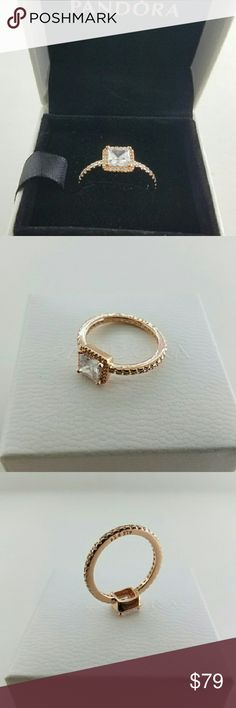 Pandora Rose Gold My Princess Tiara Ring # 5 Pandora Rose ...
