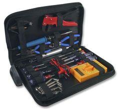 Electricians Tool Set Case Soldering Iron Multimeter Technicians Pouch Tools Kit