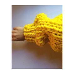 YELLOW fever #bigknits #handmade #thecardigan #yellow #wool #heartworking #knitwear #australia #ilovemrmittens