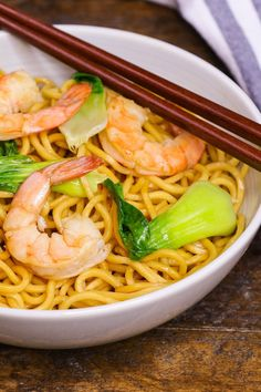 Shrimp Chow Mein, Chicken Lo Mein, Potted Shrimp, Easy One Pot Meals, Chopsticks, Chow Chow, Noodles, Food And Drink, Cooking Recipes