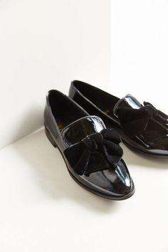 1dded8ed55073 F-Troupe Velvet Bow Slip-On Shoe Cute Boots