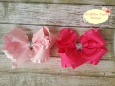 Valentine's Bow Set by YellowTeapotBoutique on Etsy