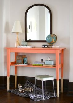 Something like this would make a great buffet/sideboard without taking up much room.