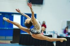 Rebecca Sereda competes at the 2012 Rhythmic Challenge. - One of the best split leaps! Look at that split. Those pointed toes and lovely hands!