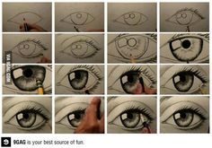How to draw an eye -- actually very easy to follow!