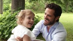 royalwatcher:  New photos from the SVT's Kungafmiljen 2014, showcasing the best of the Swedish Royal Family's photos and videos-Princess Estelle with her uncle Prince Carl Philip