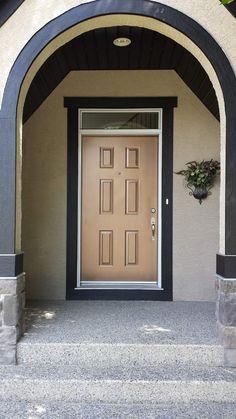 Shibley Edmonds Painting   Antique Bronze Metallic Paint by Modern Masters on Front Door