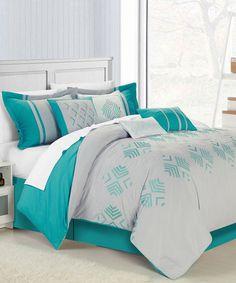 Another great find on #zulily! Gray Harlequin Comforter Set #zulilyfinds