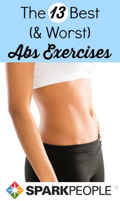 The 13 Best Abs Exercises. Definitely adding these to my routiune! | via @SparkPeople #workout #fitness #exercise