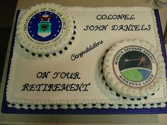 cake designs for air force retirement cakes   Air Force Retirement Cake — Retirement