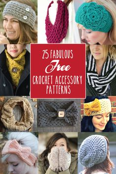 25 Fabulous Free Crochet Accessory Patterns - these are all so cute!