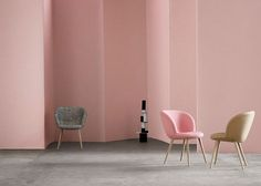 Busk + Hertzog adds wooden legs to Capri chairs for +Halle