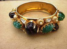 Hattie Carnegie Extraordinary  Huge Signed Vintage Runway Bracelet