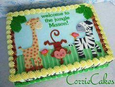 Image result for jungle safari theme sheet cake