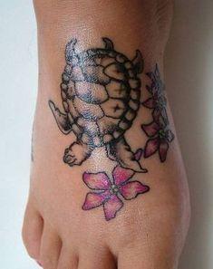 Turtle Tattoo Design On Foot