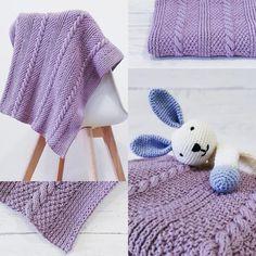 Rapunzel Cabled Baby Blanket by Thilde Olsen (PDF pattern) Moss Stitch, Knitted Blankets, Olsen, Rapunzel, Baby Knitting, Fiber Art, Cable, Crochet Patterns, Crochet Hats