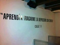 Aprendí a tragarme la depresión con cerveza.  Calle 13 Words Quotes, Life Quotes, More Than Words, Pretty Pictures, Good Music, Rock And Roll, Quotations, Depression, Lyrics