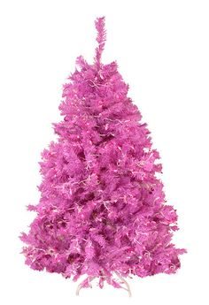 4.5 Foot Pre-Lit Cedar Pine Artificial Christmas Tree Item #DRMST040-500PUL Features bright orchid pink tips that create a unique and fun look Features: 500 branch tips Pre-lit with 250 pink mini ligh