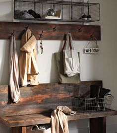 I really like this - am I turning rustic/country?   Rejuvenation | Hang It Up Hang It Up