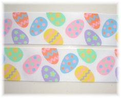 EGGCEPTIONAL EGGS PASTEL Easter grosgrain ribbon by omygoshgoodies