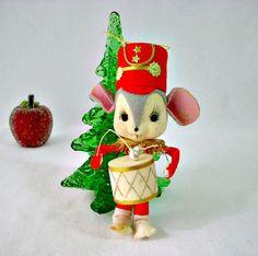 Ornamento di Natale vintage anni sessanta Kitsch di GSaleHunter