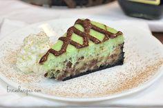 grasshopper cheesecake w. nutella drizzle