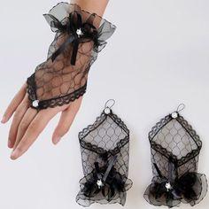 Fingerless-Lace-Gloves-Bridal-Wedding-Fancy-Dress-Goth-Burlesque-Vintage-Chic