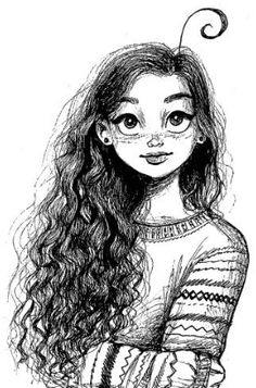 Creative Interesting Self Portrait Ideas to Spice up Your Girl Drawing Sketches, Girly Drawings, Cool Art Drawings, Pencil Art Drawings, Cartoon Drawings, Self Portrait Drawing, Cartoon Art Styles, Anime Art Girl, Cute Art