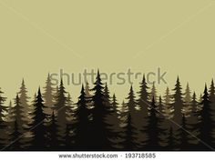 Evergreen Tree Silhouette Graphics | Evergreen Tree Silhouette Fir Trees Silhouettes