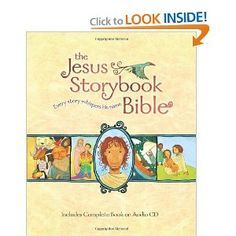 I just LOVE this Bible story book.  The illustrations are delightful, and the way each story is told in light of how it points to the coming of Jesus...awesome! My 5yo brings this to me for her bedtime story almost every night.