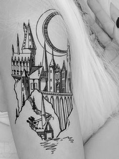 This tattoo design was a Hogwarts-inspired illustration exercise that I fell in love with. So much so that I had to share it with all of you. My favorite part of this design is the boathouse. <3 Approximately 5.25 wide and 8 high. Can last up to 7 days with minimal moisture and abrasion. Expect at least 4 days of awesome. For application & removal instructions (and more!), visit our FAQ section. Ideal application requires a moisturizing lotion, translucent cosmetic powder, and a kabuki…