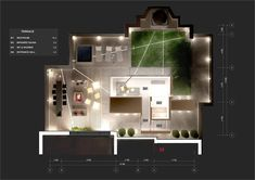 rendered plan with lighting