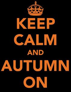 Keep Calm and Autumn On... http://www.theperfectpalette.com/2011/10/spooky-soiree-palette-of-orange-black.html