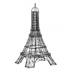 Effiel Tower Candleholder, Iron and Glass