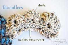 Crochet Moose Hat - The Antlers