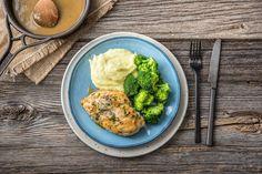 This was delicious: https://www.hellofresh.com.au/recipes/herbed-chicken-with-cauliflower-parmesan-mash-58a0fe78c6243b7deb051484?week=2017-W13&locale=en-AU
