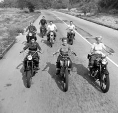 1949 - Motorcycle Club Ride. Haha we're still riding up front...love it