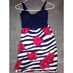 Dress with strapes Never worn. Need it gone. Its a cute dress Rue 21 Dresses