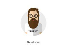 How they looks: Developer Website Illustration, People Illustration, Character Illustration, Graphic Illustration, Logo Character, Simple Character, Character Design, Graphic Design Typography, Branding Design