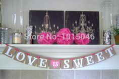 >> Click to Buy << Free Shipping 1 X Square LOVE IS SWEET Banner Wedding Party Garland Banners Party Deco Supply #Affiliate